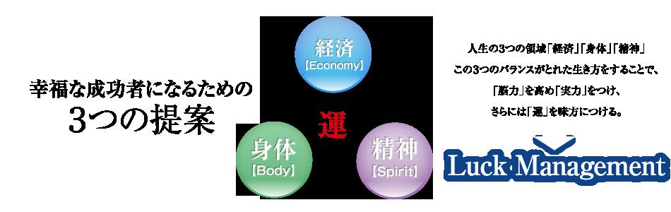 幸福な成功者になるための3つの提案 経済・身体・精神
